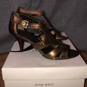 Nine West strappy heeled sandals.